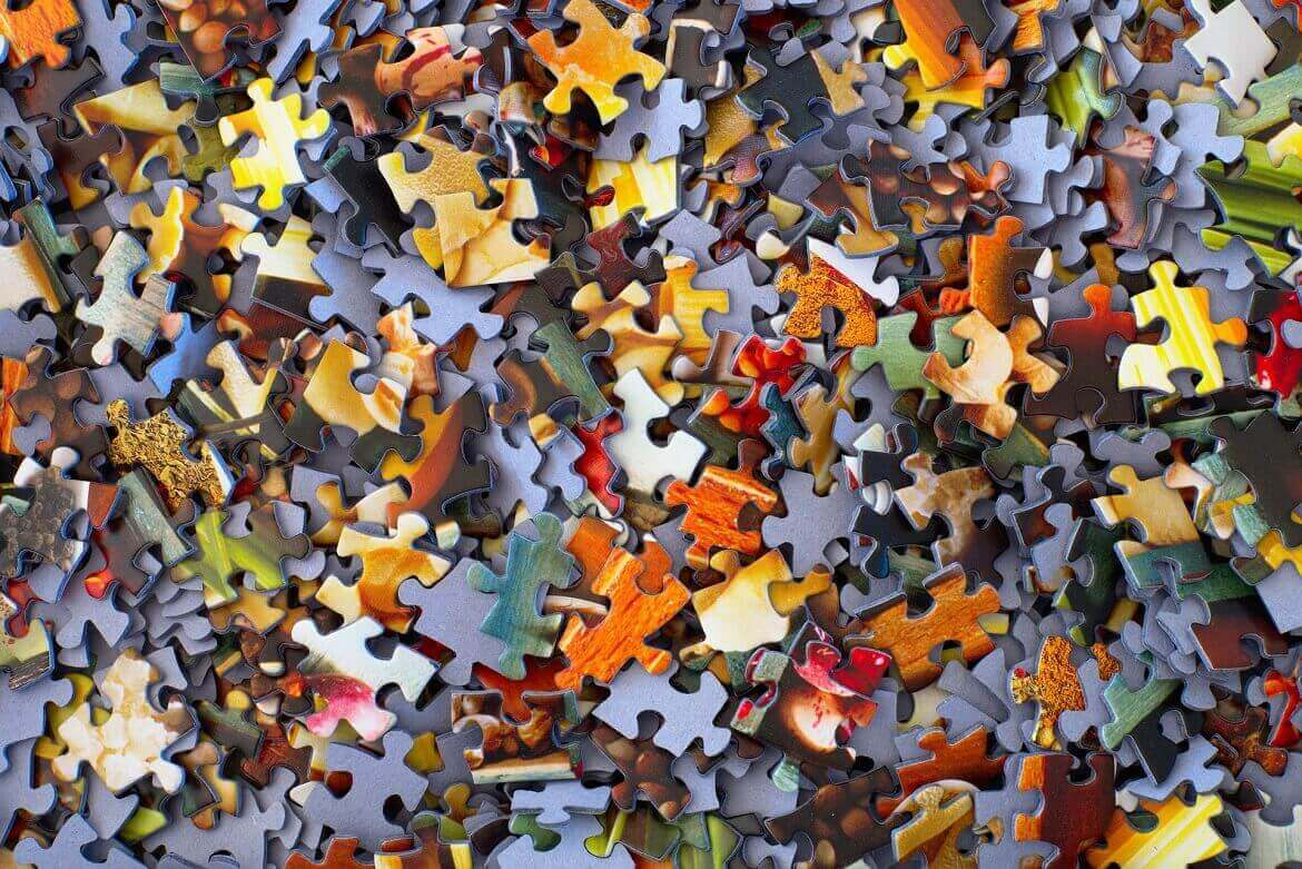 An image of jigsaw puzzle pieces